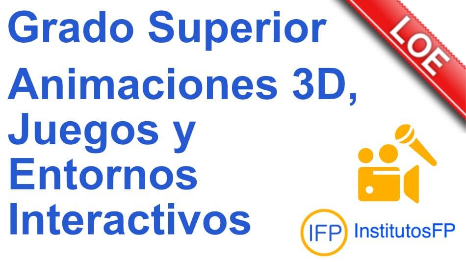 Técnico superior en animaciones 3d, juegos y entornos interactivos