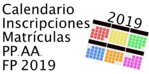 fechas matriculas fp 2019