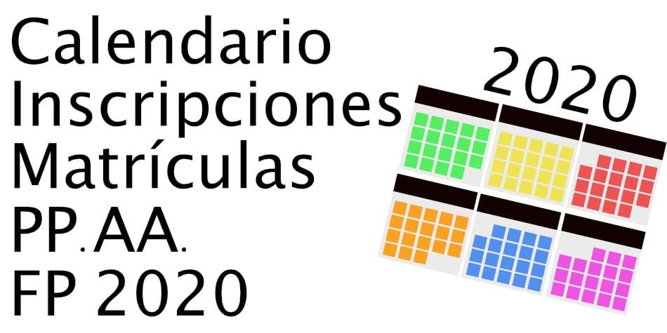 Fechas Matriculas Formación Profesional 2020